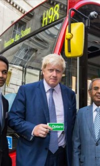 London Mayor Boris Johnson with Mr. Gopichand Hinduja, Co-Chairman of the Hinduja Group (File)