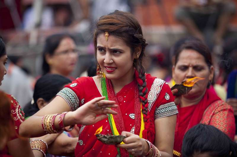(WORLD SECTION) NEPAL-KATHMANDU-TEEJ FESTIVAL