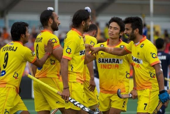 India vs Malaysia match of the Rabobank Hockey World Cup 2014 at the Hague, Netherlands on June 7,2014 (Photo: IANS)