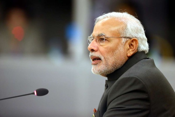 Indian Prime Minister Narenda Modi delivers a speech during the 12th ASEAN-INDIA Summit in Nay Pyi Taw, Myanmar, Nov. 12, 2014.FILE PHOTO