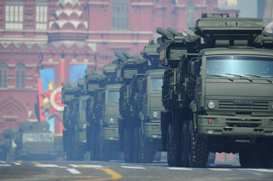 Military vehicles participate in the Victory Day Parade marking the 69th anniversary of the defeat of Nazi Germany in WWII, in Moscow's Red Square May 9, 2014. Russian President Vladimir Putin said Friday the Victory Day is a symbol of Russian people's triumph against Nazism