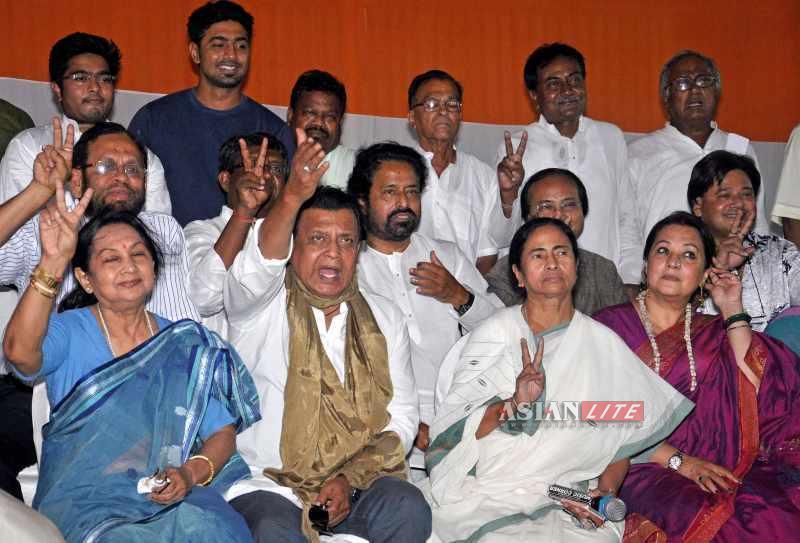 Team Mamata - Newly elected MPs with CM Mamata Banerjee