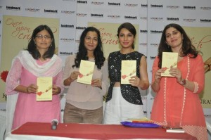 Kiran Manral Tisca Chopra_Ms Madhavi Purohit_at the book launch of Once Upon A Crush by Leadstart publishing