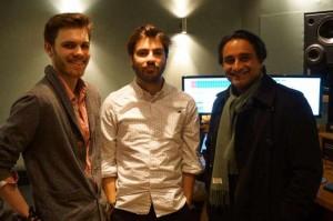 L-R Martin Woolley, Tom Gran, Sanjeev Bhaskar (Medium)