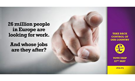 Ukip poster: '26 million people in Europe are looking for work. And whose jobs are they after?'