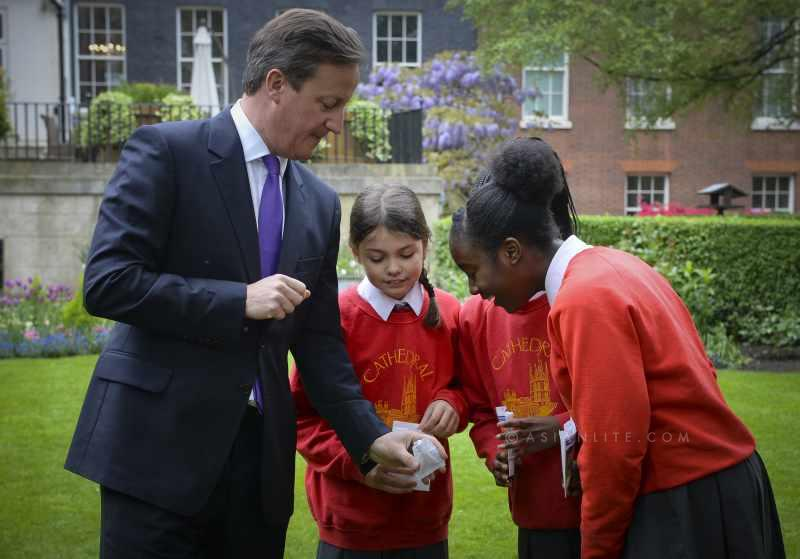 Cameron with Children