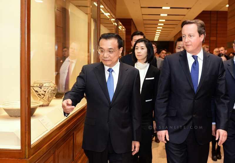 British Prime Minister David Cameron and Chinese Premier Li Keqiang