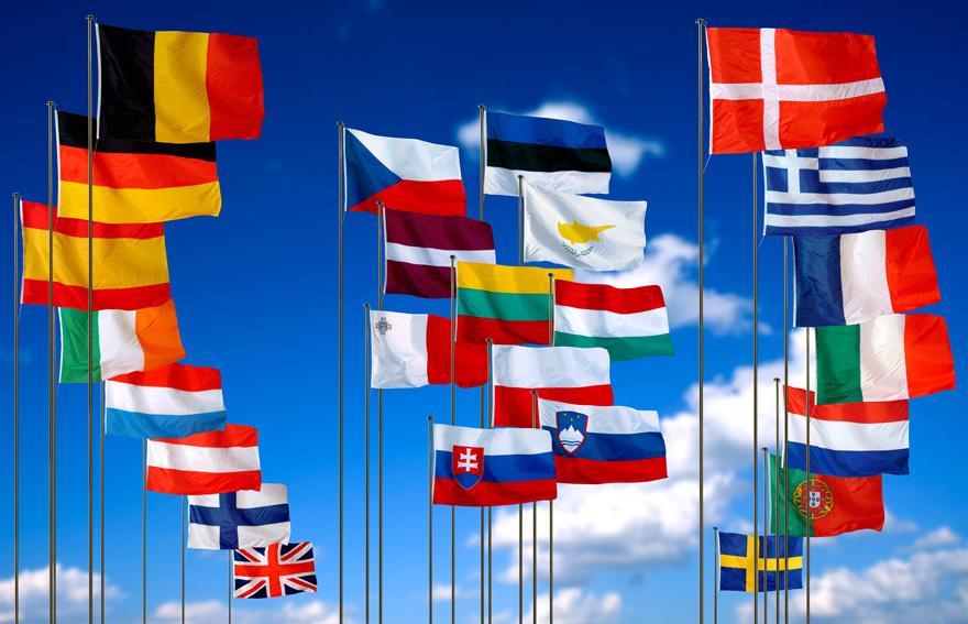 European-Union flags