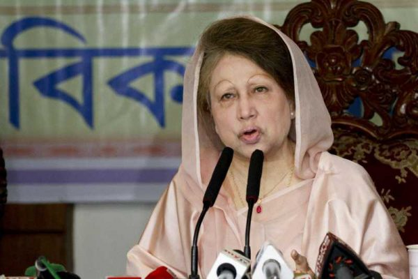 BNP Chairperson Khaleda Zia during an iftar party at Dhaka's Samarai Convention Centre in Dhaka, Bangladesh