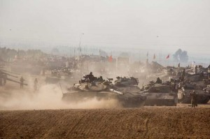 gaza israel army tanks