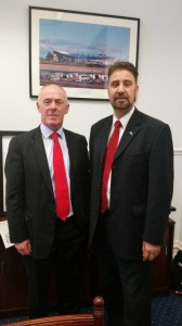 North West MEP, Afzal Khan with Manchester City Council leader, Sir Richard Leese
