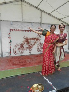 Shantha Rao with Kuchipudi dancer Kopal Vedam