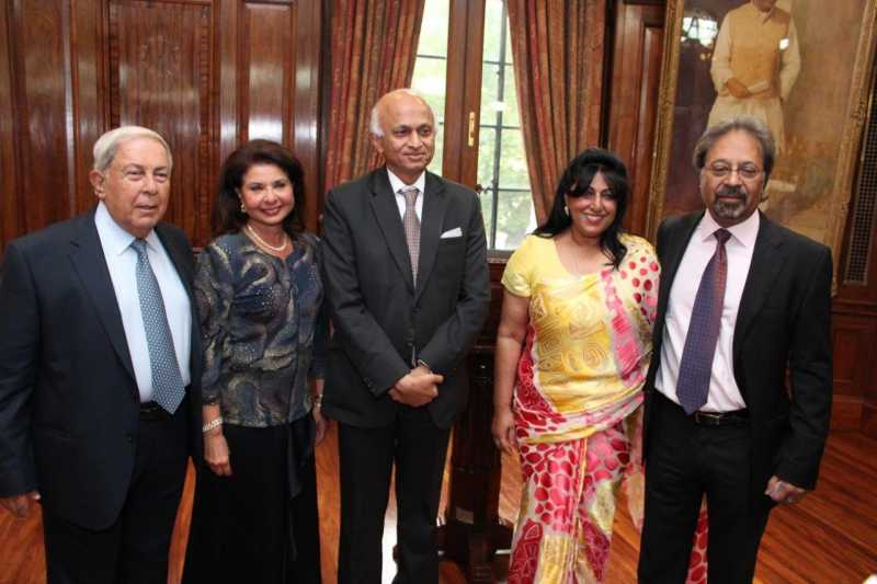 High Commissioner Ranjan Mathai with Sir Virdee and Lady Virdee and Dr Hameid and his wife Farida
