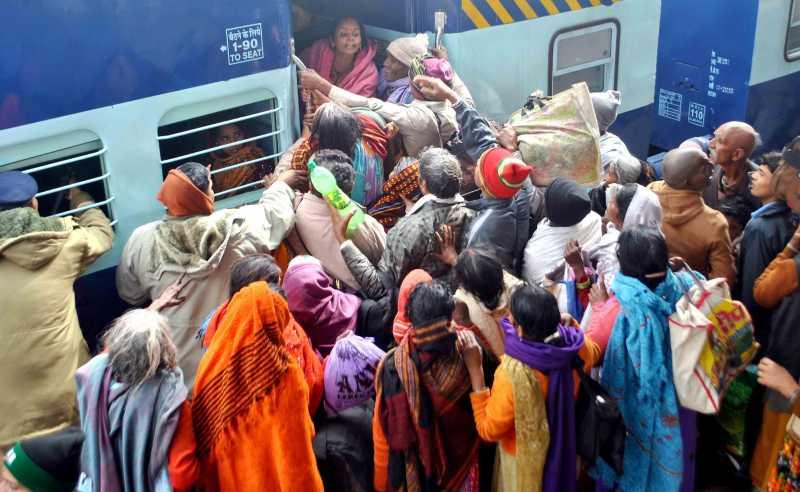 India Train crowd