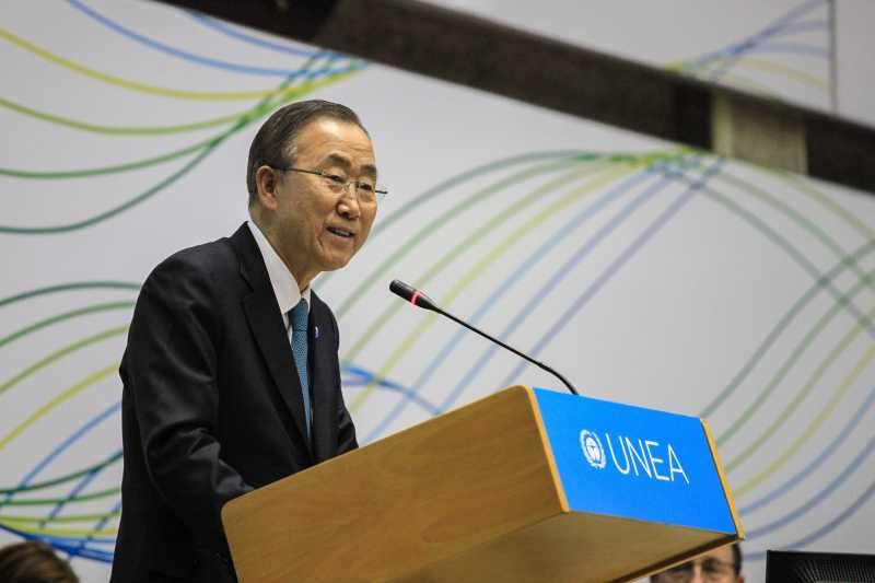 UN Secretary-General Ban Ki-moon.