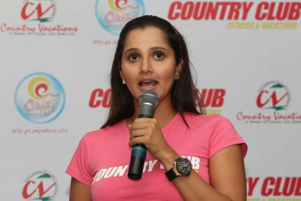 Indian tennis player Sania Mirza during a programme in Chennai on Feb.27, 2014. (Photo: IANS)
