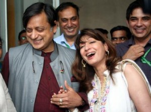 Sunanda Pushkar and sashi tharoor