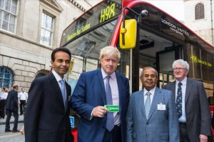 London Mayor Boris Johnson with Mr. Gopichand Hinduja, Co-Chairman of the Hinduja Group