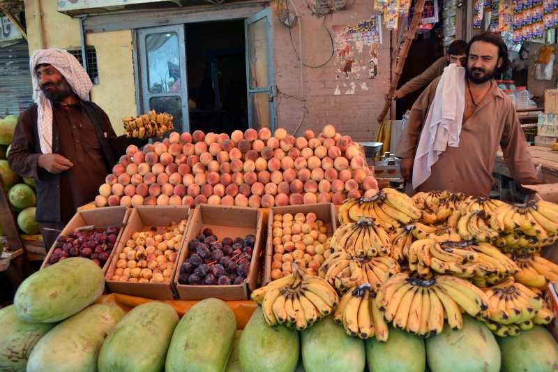 QUETTA: A vendor sells fruits during holy month of Ramadan in southwest Pakistan's Quetta