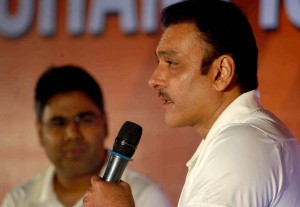 Former cricketer Ravi Shastri during a programme organised in Kolkata on July 8, 2014. (Photo: IANS)