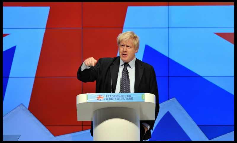 The London Mayor Boris Johnson