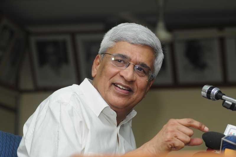 CPI (M) general secretary Prakash Karat durign a press conference in Delhi