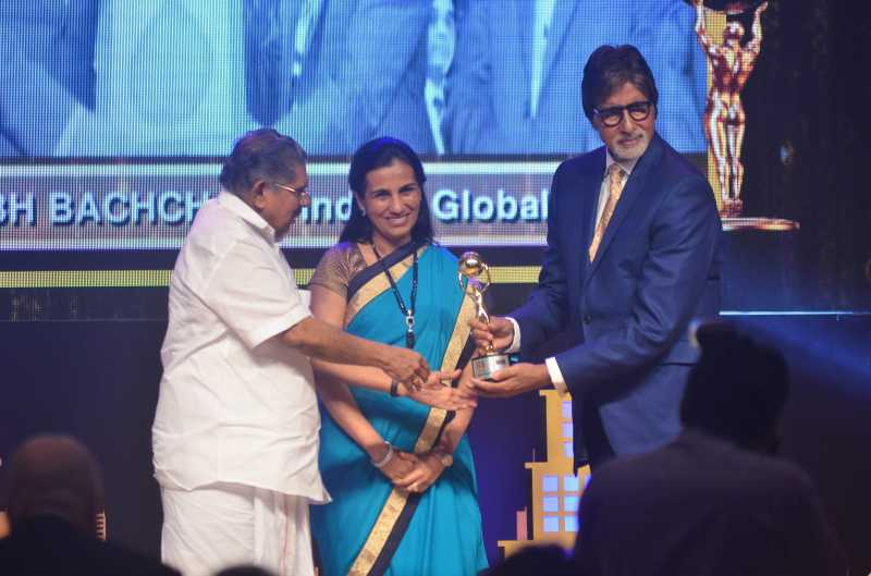 Amitabh Bachchan during the first edition of Times Now ICICI bank NRI of the year awards ceremony in Mumbai