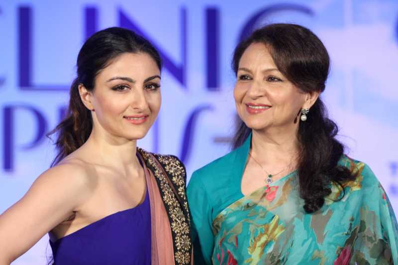 Actress Soha Ali Khan with mother Sharmila Tagore