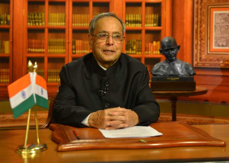 President Pranab Mukherjee addresses the nation on the eve of 68th Independence Day in New Delhi