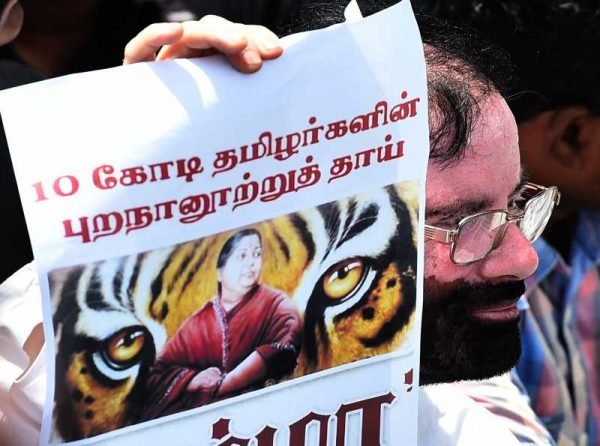Members of Tamil film industry demonstrate outside Sri Lankan consulate in Chennai demanding closure of the consulate and the embassy in New Delhi,  (File)