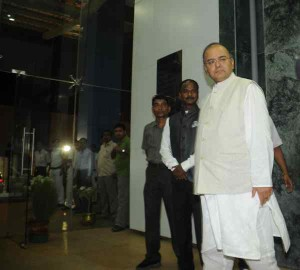 Union Finance Minister Arun Jaitley at Nabanna in Howrah, West Bengal