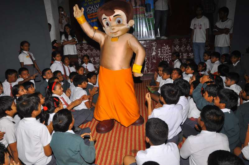 Chota Bheem enthrals students of Army Public School in Bangalore on Aug 22, 2014. (Photo: IANS)