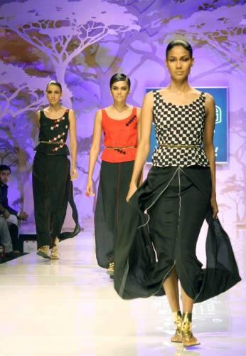 Designer Wendell Rodricks show at the Wills Lifestyle India Fashion Week -Spring Summer 2014 in New Delhi on 12th Oct 2013. (Amlan Paliwal/IANS)