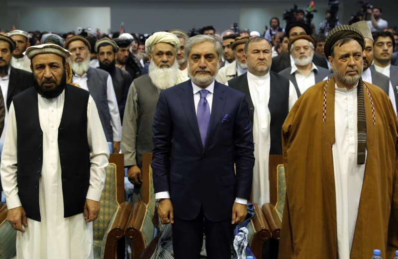 Abdullah Abdullah Afghanistan's chief executive, attends a gathering in Kabul, Afghanistan on Sept. 25, 2014. Abdullah Abdullah congratulated President-elect Ashraf Ghani Ahmadzai during his speeches in loya jirga tent Ashraf Ghani Ahmadzai will replace Hamid Karzai as president and Abdullah Abdullah as the country's chief executive, a post that is equivalent to prime minister.