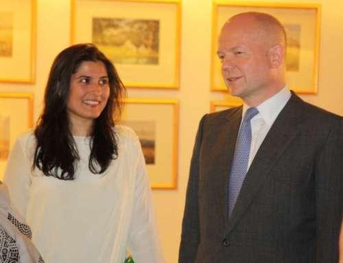 Academy Award winner, Sharmeen Obaid Chinoy. With former UK foreign secretary William Hague