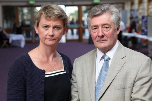 Shadow Home Secretary Yvette Cooper MP with GMP Crime Commissioner Tony Lloyd