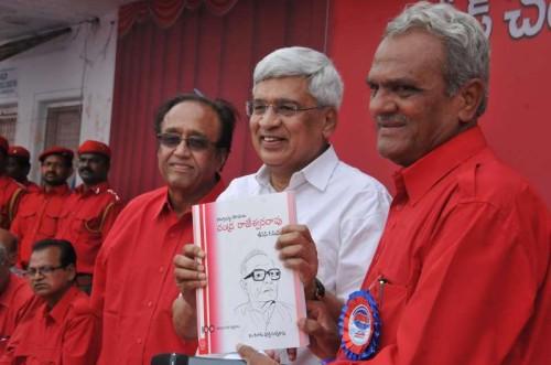CPI (M) General Secretary Prakash Karat during centenary year celebrations of party leader Chandra Rajeswara Rao in Hyderabad