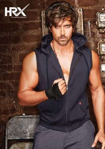 Actor Hrithik Roshan poses in a poster of HRX - a brand established by the actor himself. The brand has announced an exciting, industry-first partnership with the annual mountain bike race MTB Himalaya Challenge 2014.