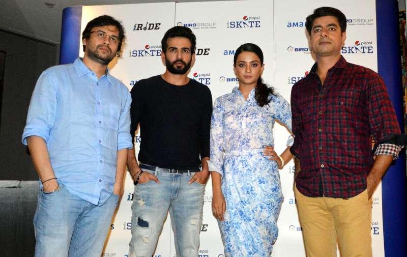Bollywood actors Jay Bhanushali, Surveen Chawla, Sushant Singh and filmmaker Vishal Panday