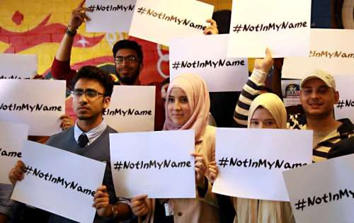 Young British Muslims have come together to launch a social media campaign against ISIS using #notinmyname to register their revulsion and the rejection of terrorist groups actions which claim are in the name of Islam some of its supporters has been led by East London based charity Active Change Foundation in Leytonstone. Hanif Qadir founder of the Foundation speaks to young British Muslims at the youth centre. Press Association photo Tuesday September 16th 2014 picture Sean Dempsey/PA