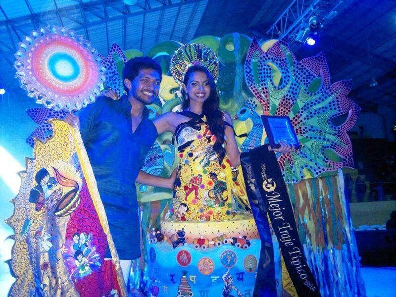 India's Gail Da Silva bags best National Costume