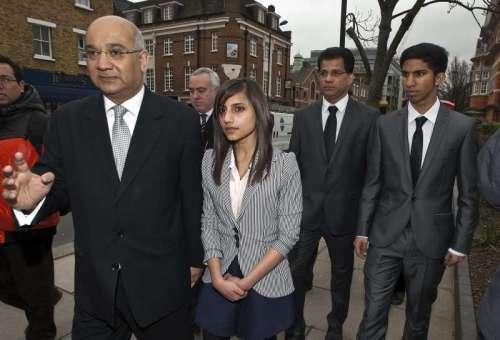 Keith Vaz MP along with Jasintha's husband Ben and children Junal, Lisha