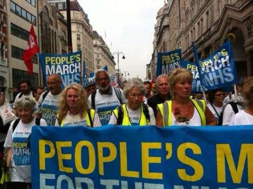 March arrives in London