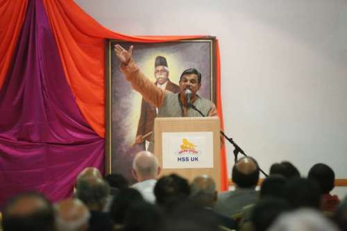 Dattatreyaji Hosabale, member of RSS National Executive and founder of World Organisation of Students and Youth