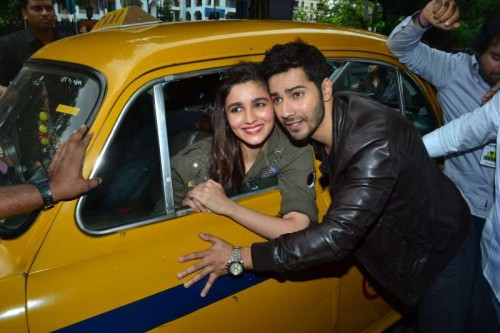 Actors Alia Bhatt and Varun Dhawan