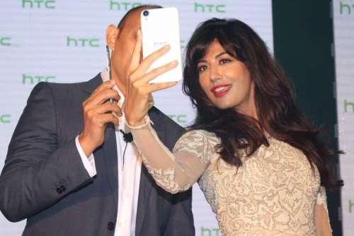 Actress Chitrangada Singh at the launch of HTC's new phone in New Delhi, on Sept. 23, 2014. (Photo: Amlan Paliwal/IANS)