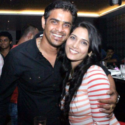 (A file photo) of Actress Mytriya Gowda with Karthik Gowda, Mytriya Gowda who filed complaint of rape and cheating against Karthik Gowda son of Union Minister DV Sadananda Gowda, alleging that he had married her secretly, in Bangalore