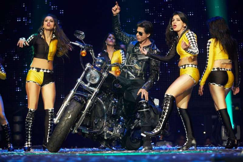 Actor Shah Rukh Khan during the promotion of film happy new year at his promotional tour in Washington on Sept. 23, 2014. (Photo: IANS)