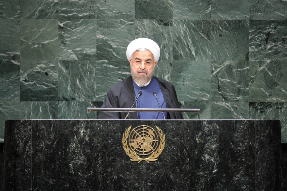 Iranian President Hassan Rouhani speaks during the general debate of the 69th session of the United Nations General Assembly, at the UN headquarters in New York, on Sept. 25, 2014.