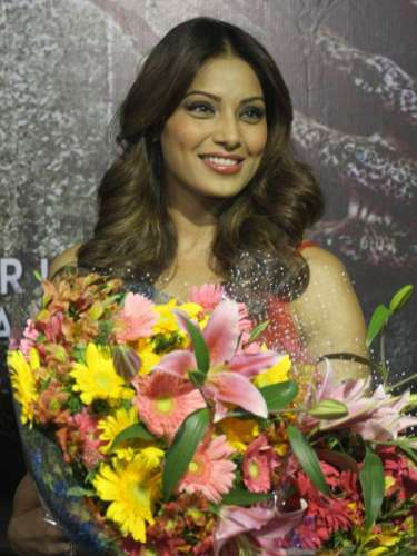 Actress Bipasha Basu during a press conference to promote her upcoming film 'Creature 3D' in Bangalore on Sept 11, 2014. (Photo: IANS)